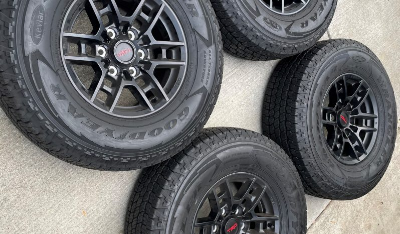Factory 2021 TRD PRO Wheels and Tires (Only 15 miles) full